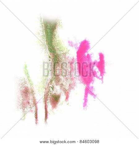 Abstract watercolor background green, pink, brown for your desig