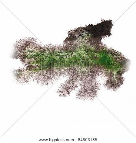 Abstract watercolor background marsh, black for your design insu