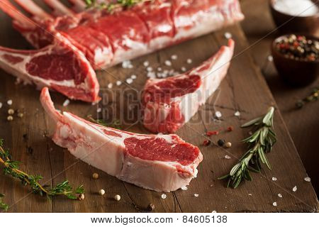 Organic Raw Lamb Chops