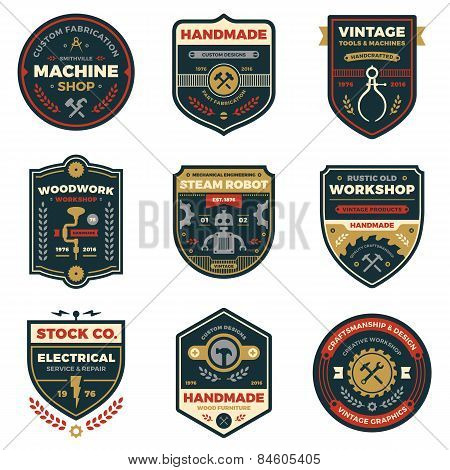 Vintage Workshop Badges