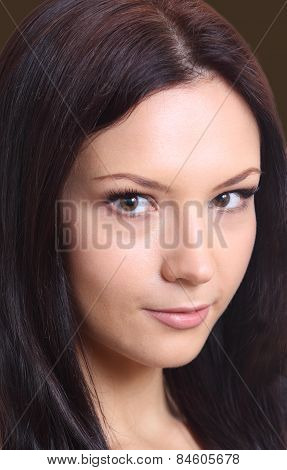 Beautiful Brunette Girl Of Twenty