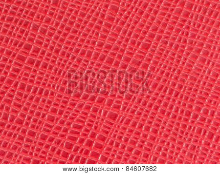 Red Cow  Leather With Pattern