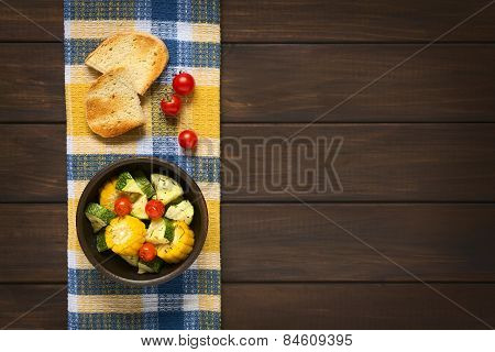 Baked Vegetables (Zucchini, Corn, Tomato)