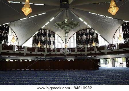 Interior of Negeri Sembilan State Mosque in Negeri Sembilan, Malaysia
