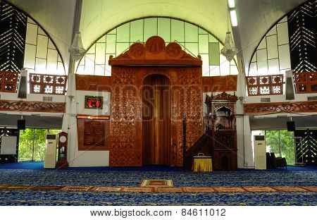Mihrab of Negeri Sembilan State Mosque in Negeri Sembilan, Malaysia