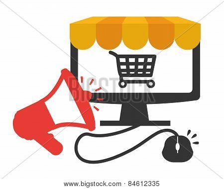 Ecommerce design, vector illustration.