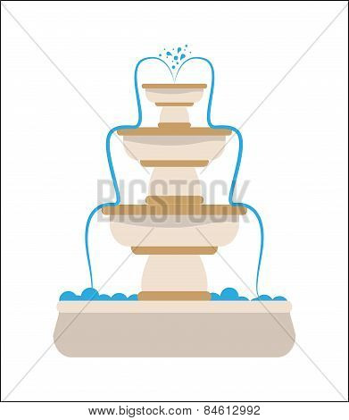 Water fountain design, vector illustration.