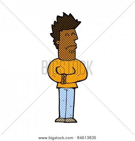 retro comic book style cartoon nervous man
