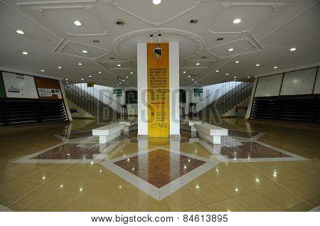 Lobby of Negeri Sembilan State Mosque in Negeri Sembilan, Malaysia