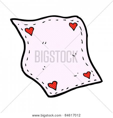 retro comic book style cartoon handkerchief