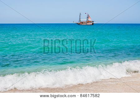 Sea Beach In Alanya, Turkey