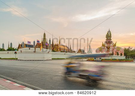 Tuk Tuk For Passenger Cars. To Go Sightseeing In Bangkok.