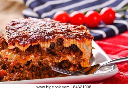 Home Made Beef Lasagne.