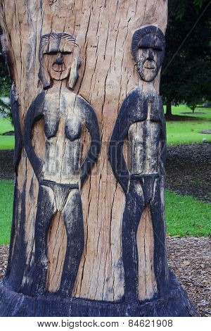 One Of The Sculptures In The Park In Sydney