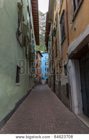 narrow street of the old city in Italy