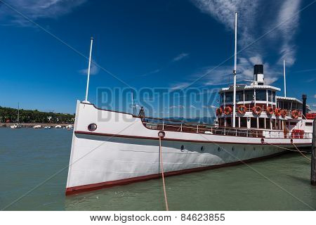 Steamer Ship In The Port
