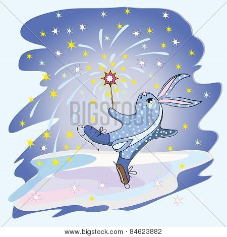 Rabbit Figure Skater