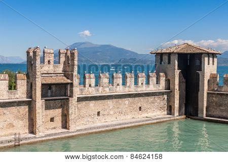 Castello Scaligero, Built In Xiv Century, Lake Garda, Sirmione, Italy