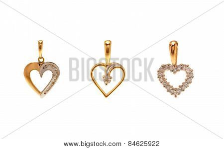 Diamond pendants in Heart Shape