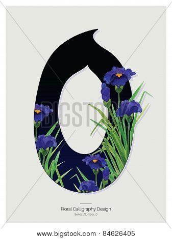 Floral Calligraphy design. Vector Illustration.