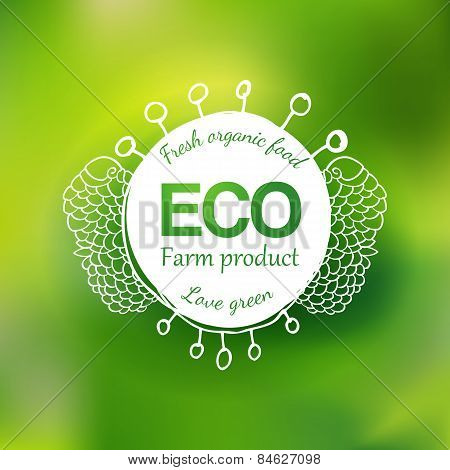 Watercolor eco friendly hand drawing logo