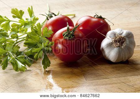 Vegetables For Seasoning Mediterranean Cuisine
