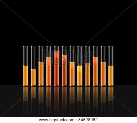 illustration of music in transparent equaliser bar