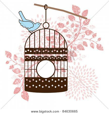 Bird and bird-cage leaves
