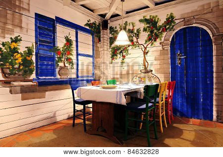 greek restaurant interior