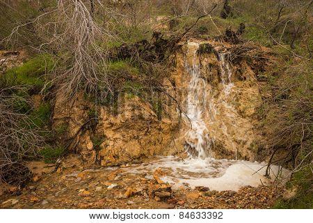 Waterfalls In Loutra Edipsou, Evia, Greece