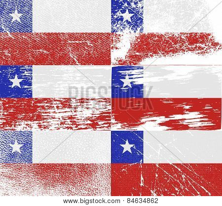 Flag Of Chile With Old Texture. Vector
