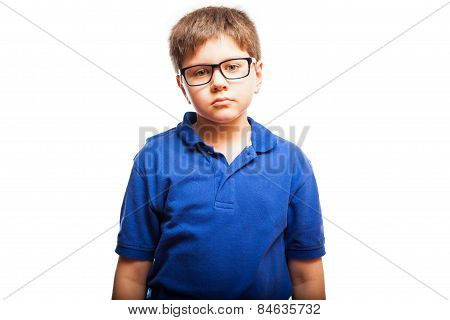 Little Boy With Blank Expression