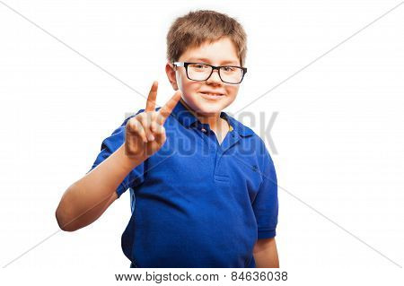 Little Boy Sends Peace And Love