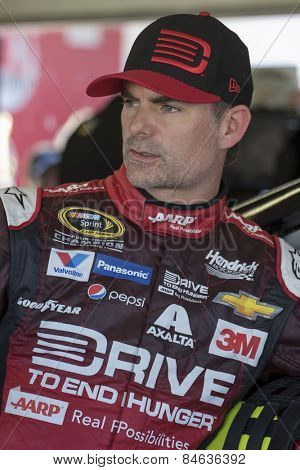 Daytona Beach, FL - Feb 18, 2015: Jeff Gordon (24) prepares to practice for the Daytona 500 at Daytona International Speedway in Daytona Beach, FL.