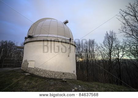 Building With The Dome In An Astronomical Observatory.