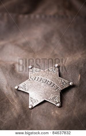 Close Up Of Sheriff Badge