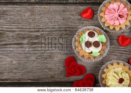 Cakes And Red Hearts