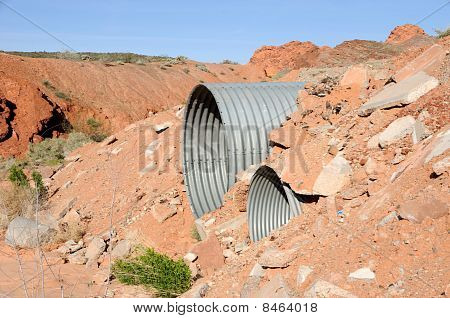Culvert in Mohave Desert Wash
