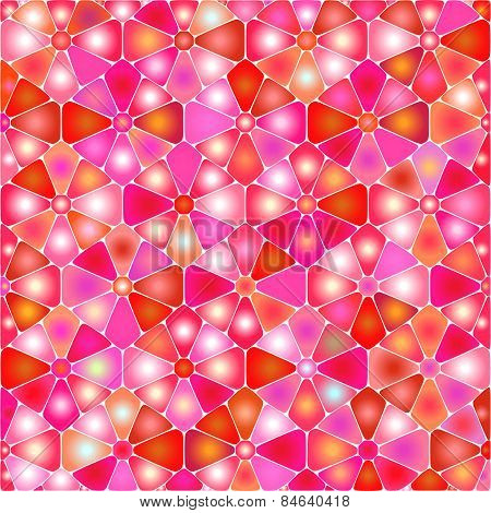 Abstract Geometric Floral Background