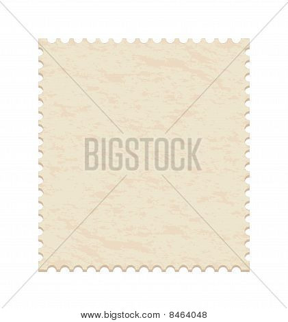 blank old post stamp