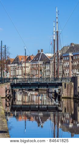 Bridge And Warehouses Along A Canal In Groningen