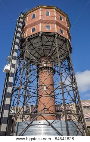 Old Water Tower In The Center Of Groningen