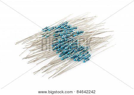 Pile Of Blue Resistors
