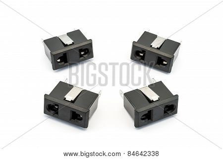 Black Electrical Ac Outlet Spare Part