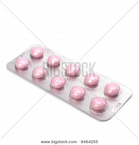 medicaments isolated on white background