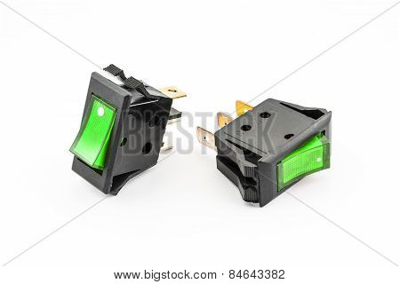 Green Rocker Switches With Light