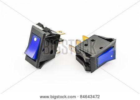 Bule Rocker Switches With Light