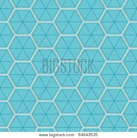 3D Cubes Honeycomb Seamless Pattern Repeat