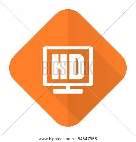 hd display orange flat icon