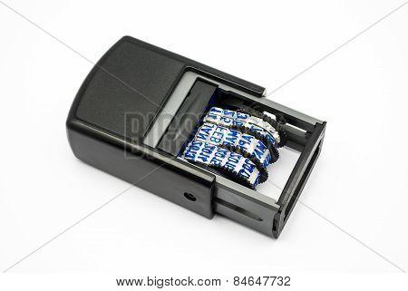 Blue Ink Plastic Date Stamper